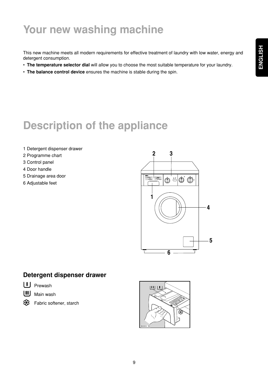 detergent dispenser drawer english zanussi fa 1032 user manual rh manualsdir com Manuals in PDF User Manual PDF