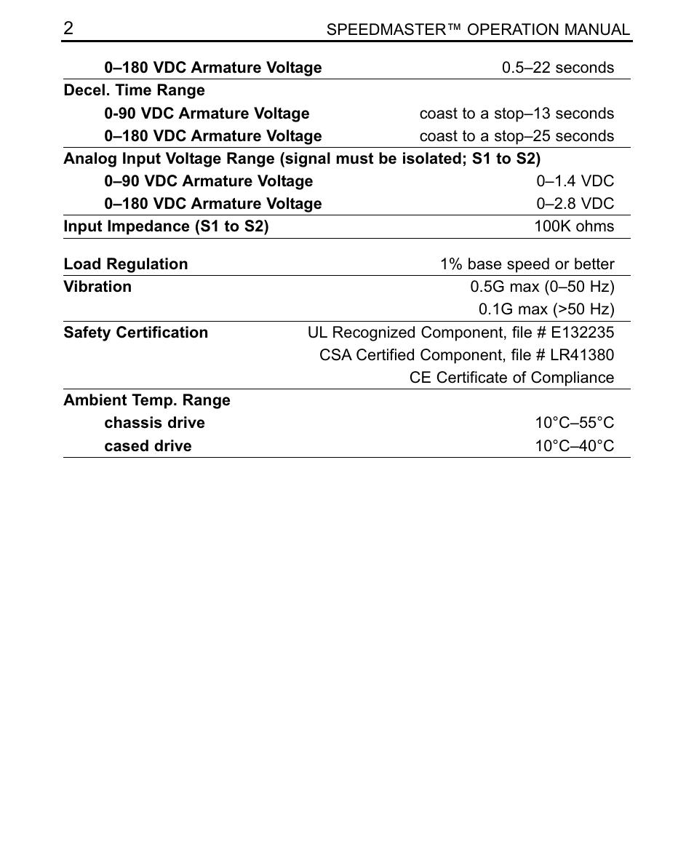 LEESON SCR Thyristor Motor Control User Manual