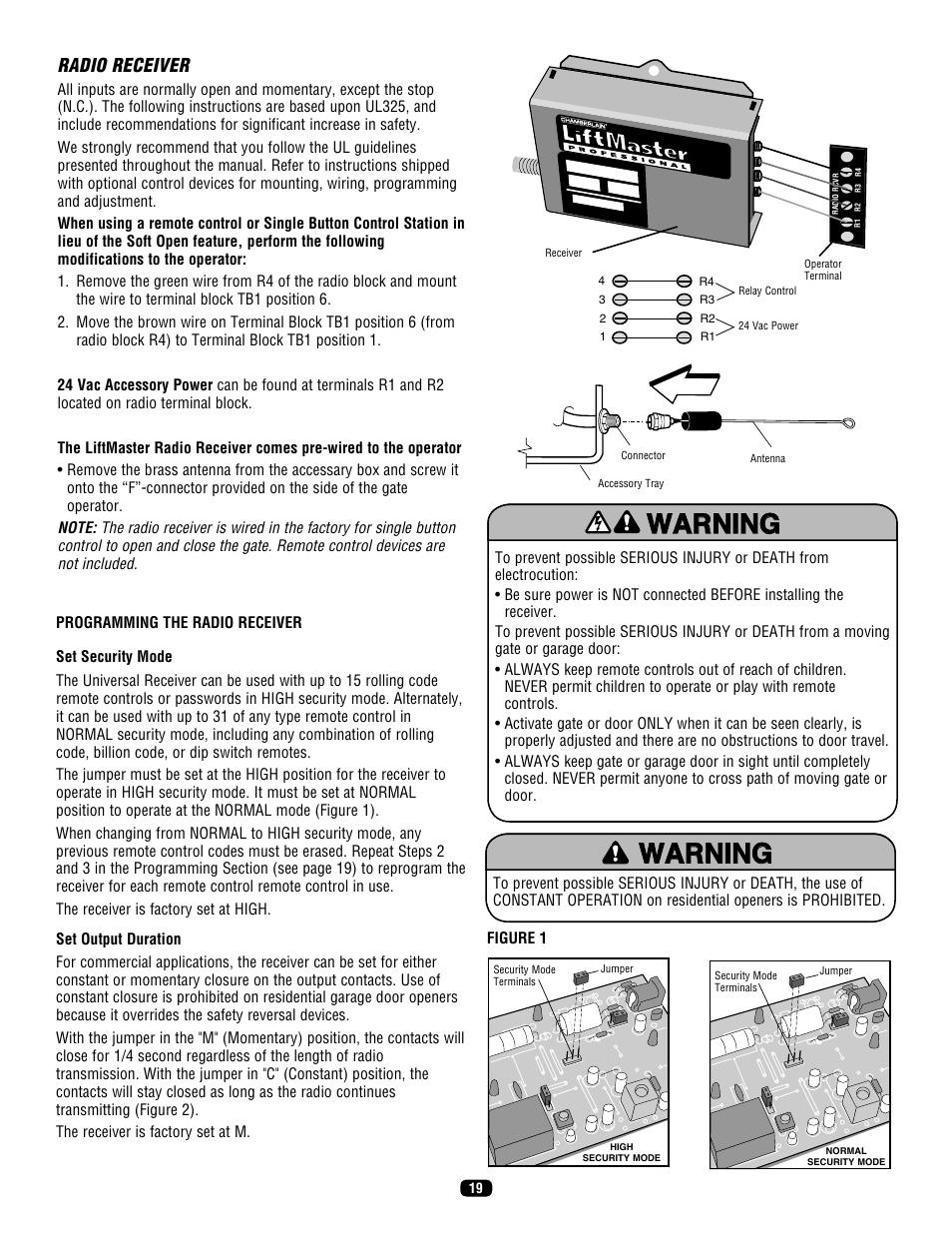 Liftmaster Sl575 Heavy Manual Guide