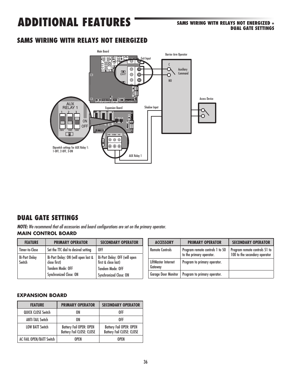 Lift Master Swing Gate Wiring Diagram Libraries Todayssams With Relays Not Energized Dual