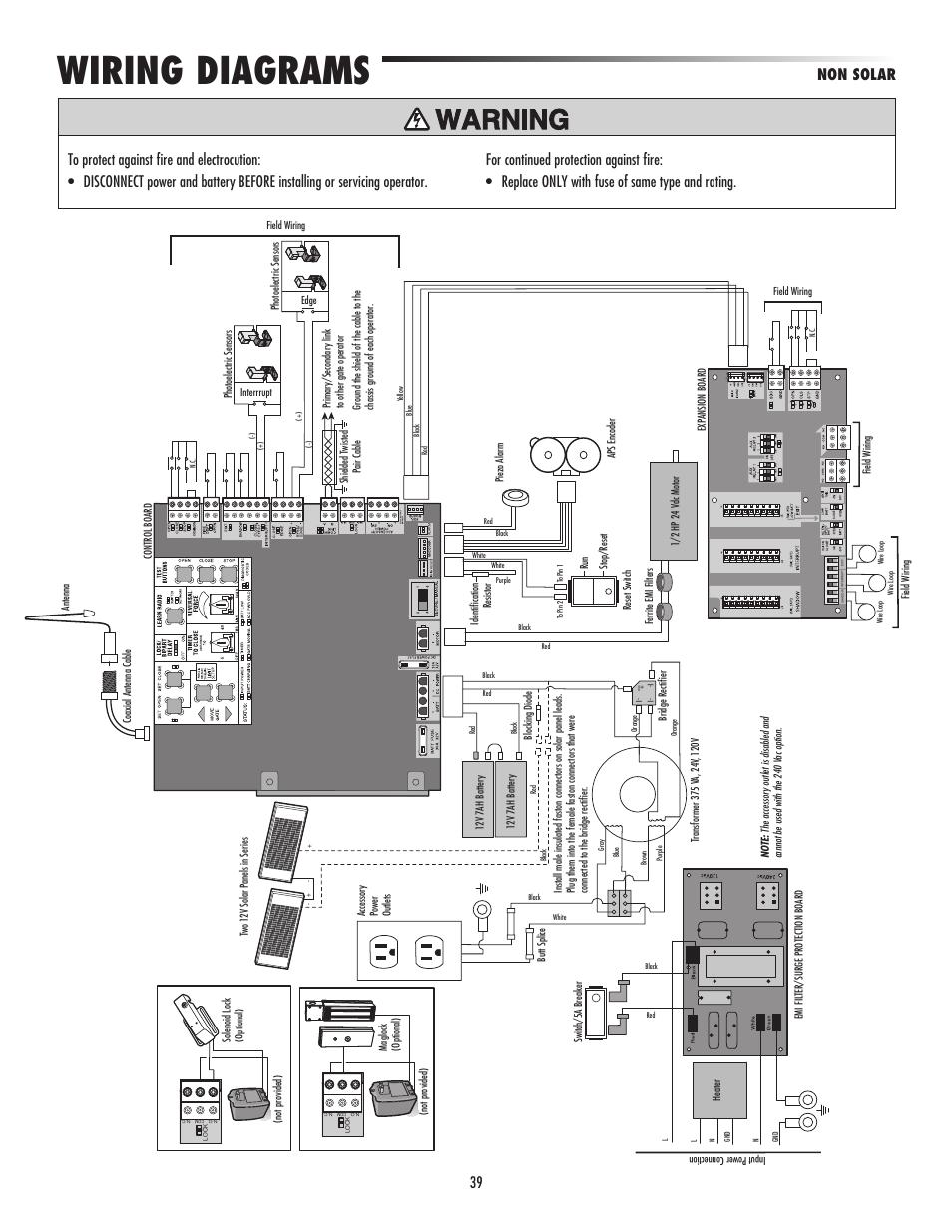 wiring diagrams, non solar, 39 non solar | liftmaster csw24v high-cycle  commercial
