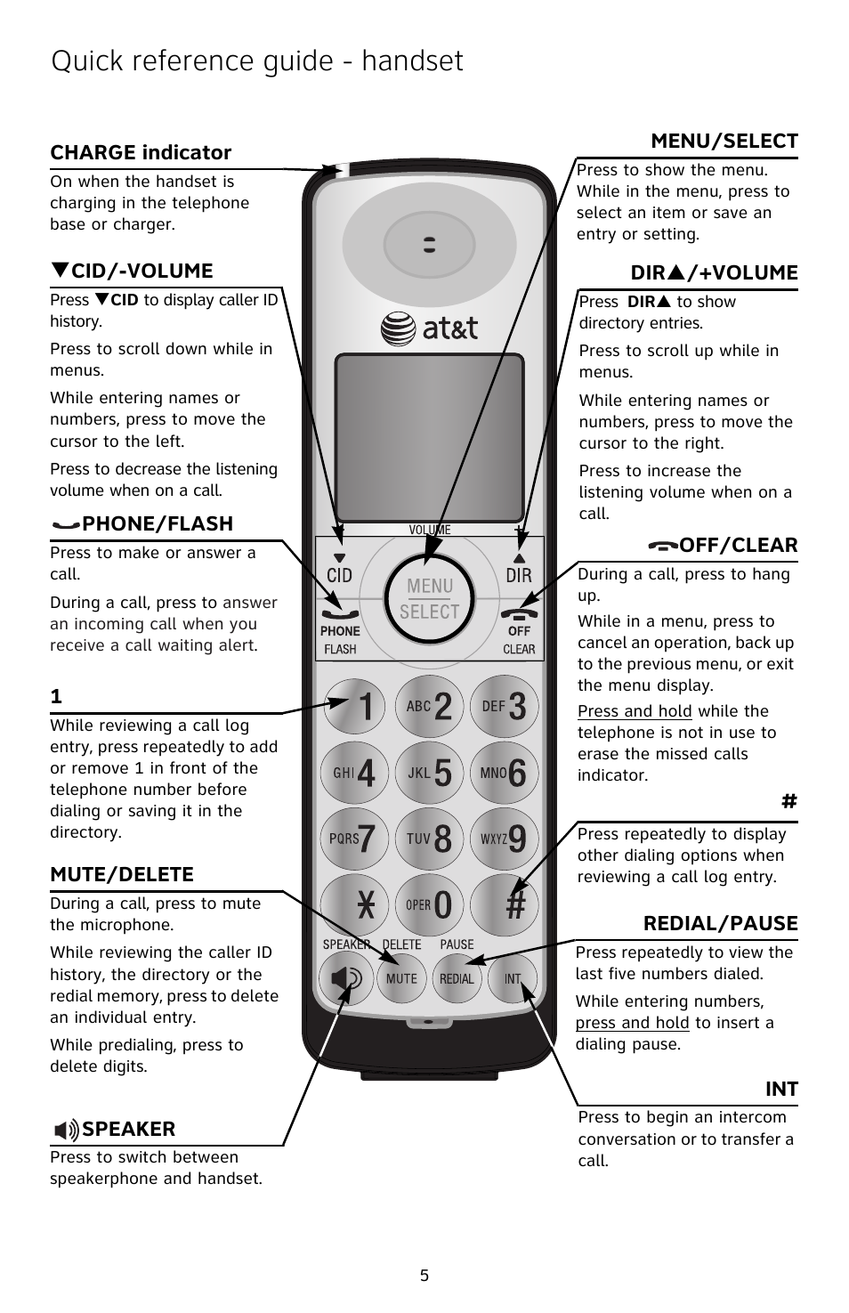 quick reference guide handset at t cl82209 user manual page 6 9 rh manualsdir com