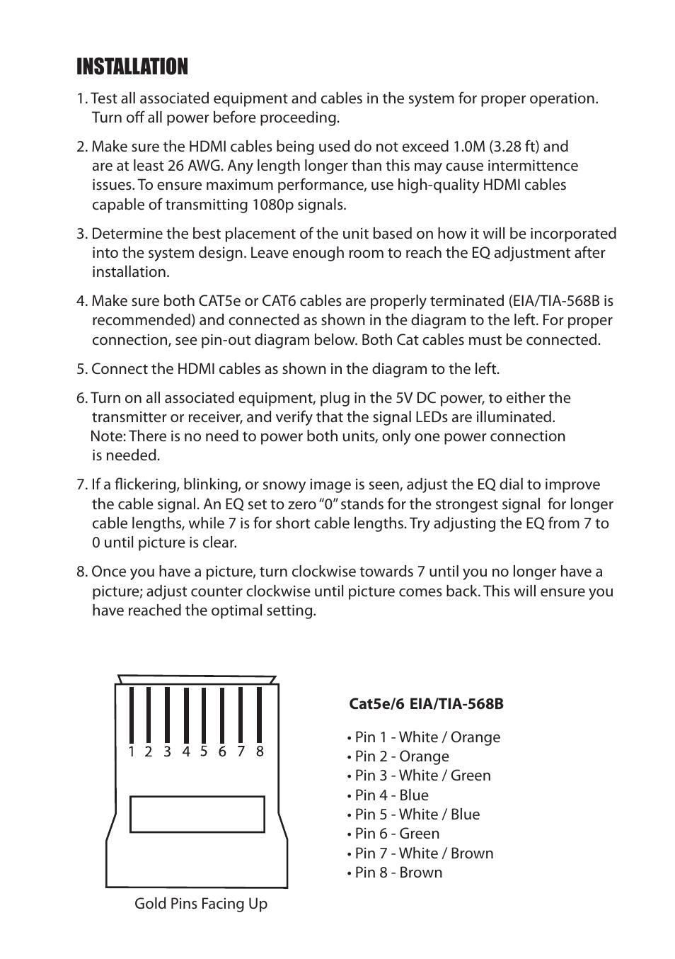 Set Up Installation Staub Electronics Hd 2cat 1080p 130 Binary Cat 5 Wiring Diagram View Pin On