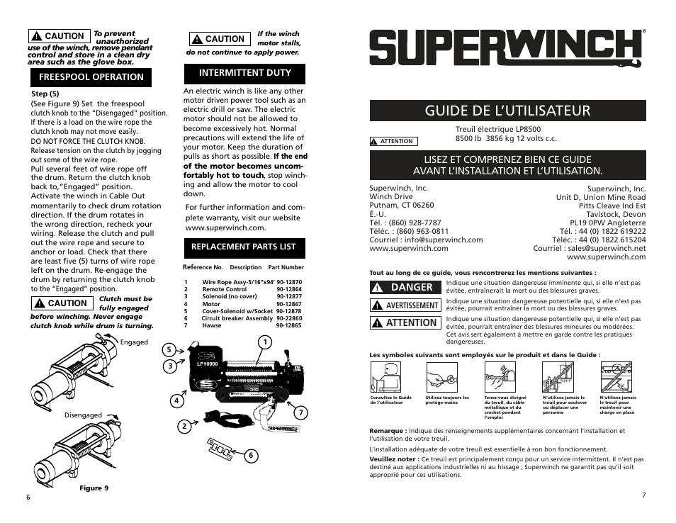 lp8500 manmasfjb part4 guide de l utilisateur danger superwinch rh manualsdir com