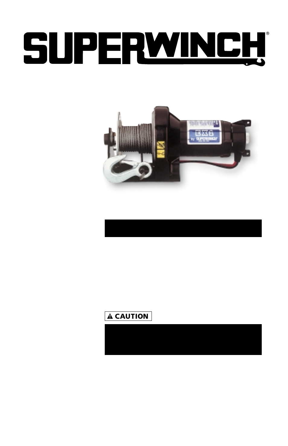 Superwinch Ex1  U2013 453 Kgs  12v  1110  User Manual