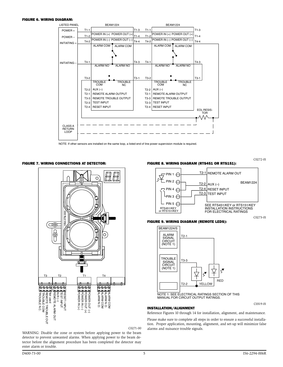 system sensor beam1224 beam1224s page5 system sensor beam1224, beam1224s user manual page 5 13 rts451 wiring diagram at webbmarketing.co