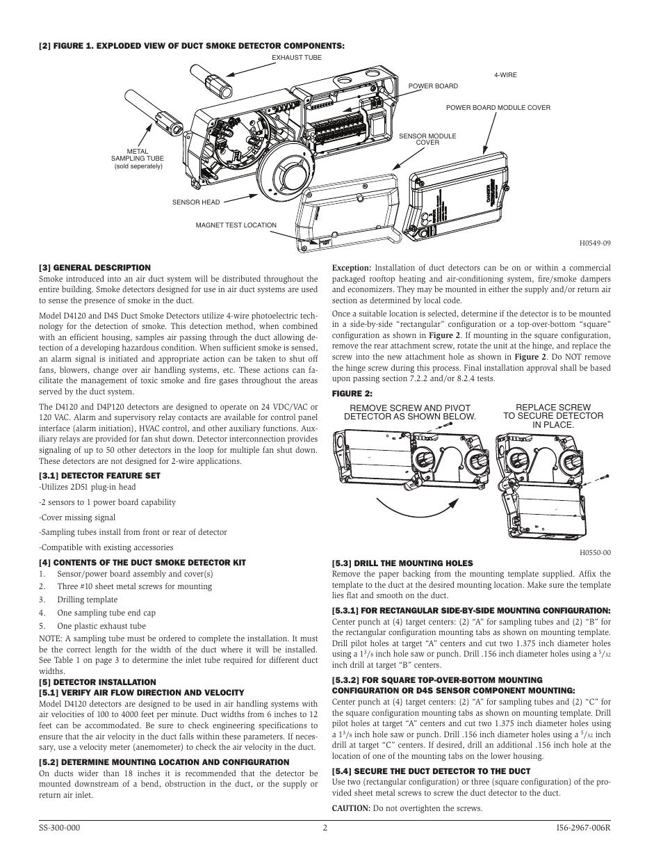 system sensor d4120  d4p120  and d4s user manual