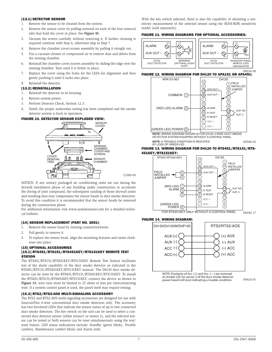 system sensor d4120 d4p120 and d4s page7 system sensor d4120, d4p120, and d4s user manual page 7 8 system sensor dh1851ac wiring diagrams at panicattacktreatment.co