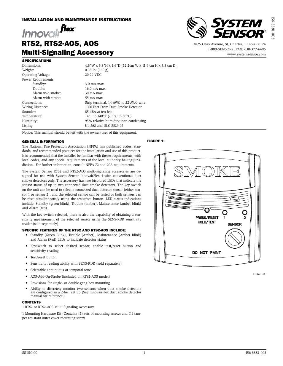 System Sensor Rts