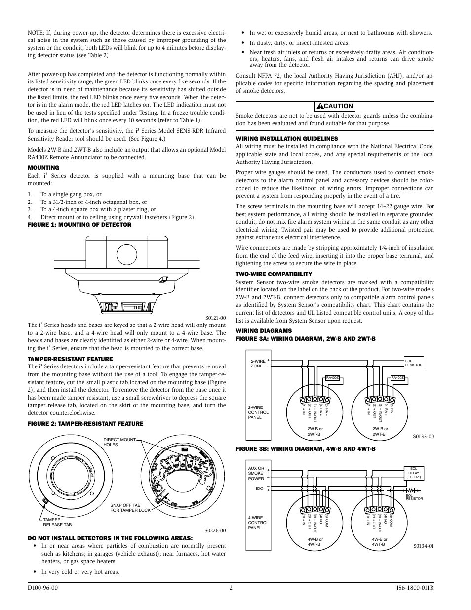 The I Figure 3b Wiring Diagram 4w B And 4wt B System Sensor