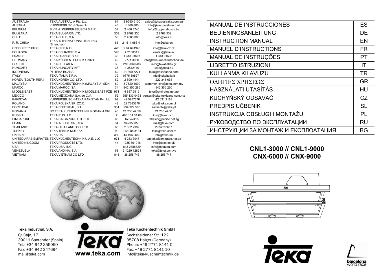 Teka Cnl1 3000 Stainless Hp User Manual 38 Pages Also For Cnl1