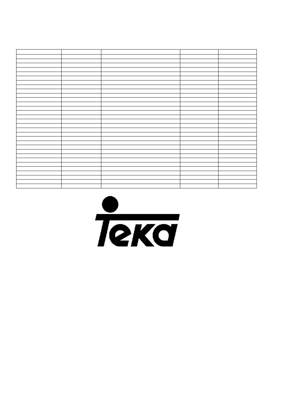 Teka group | Teka NFE2 320 X User Manual | Page 100 / 100