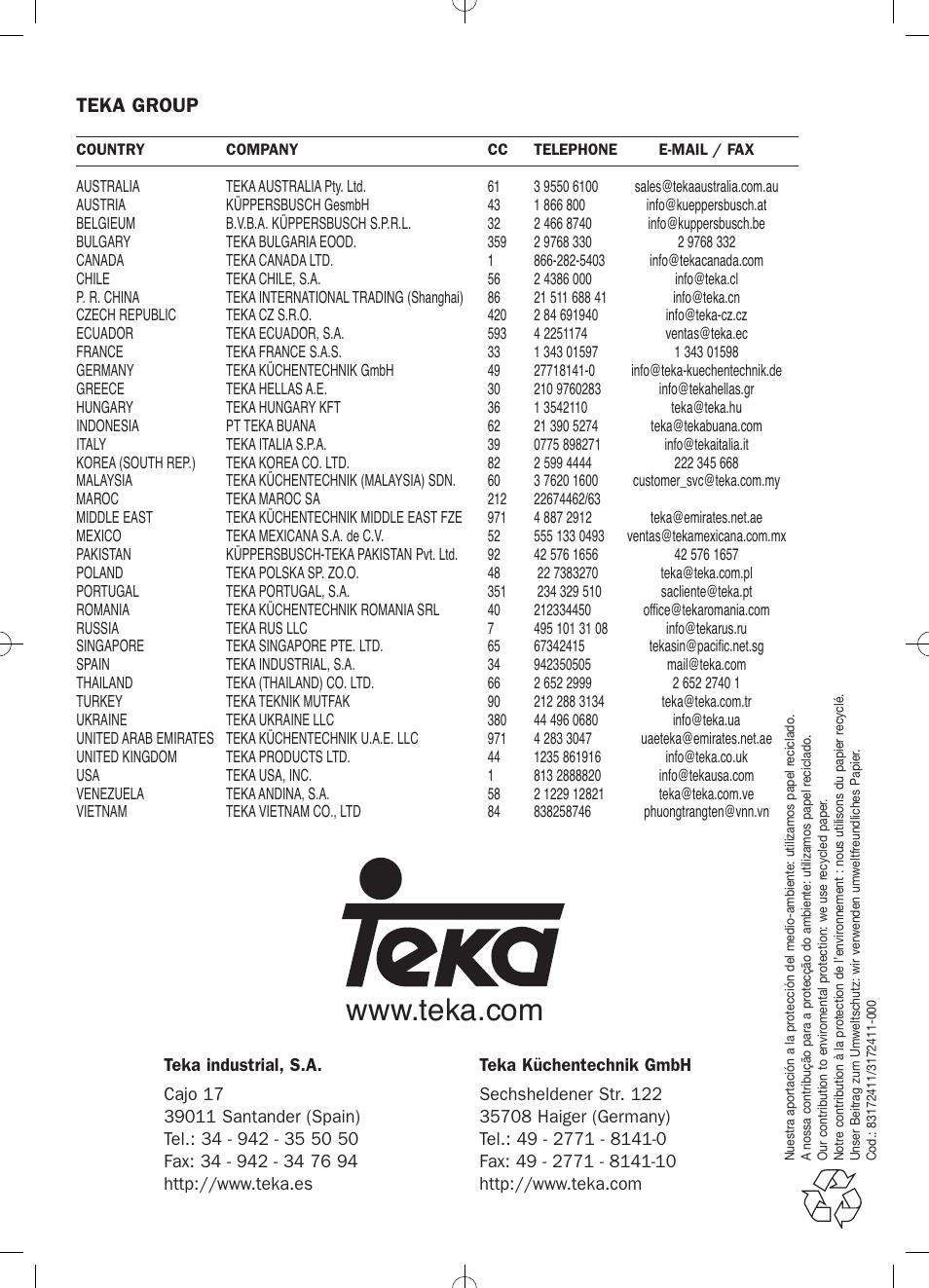 Teka Group Teka Hke 635 User Manual Page 24 24