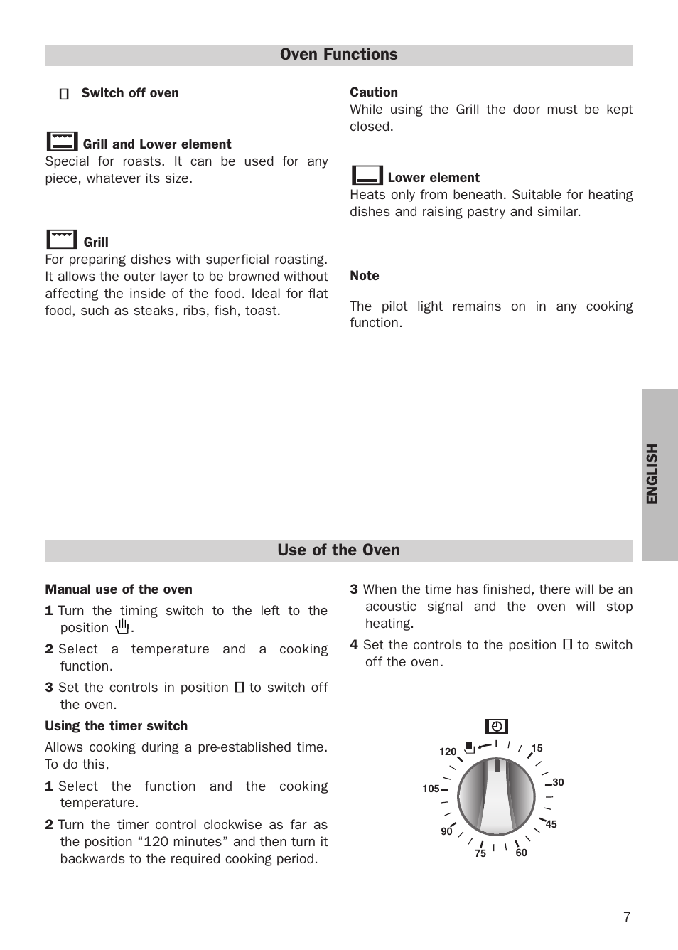 Oven Functions Use Of The Oven Teka He 510 User Manual Page 7 12