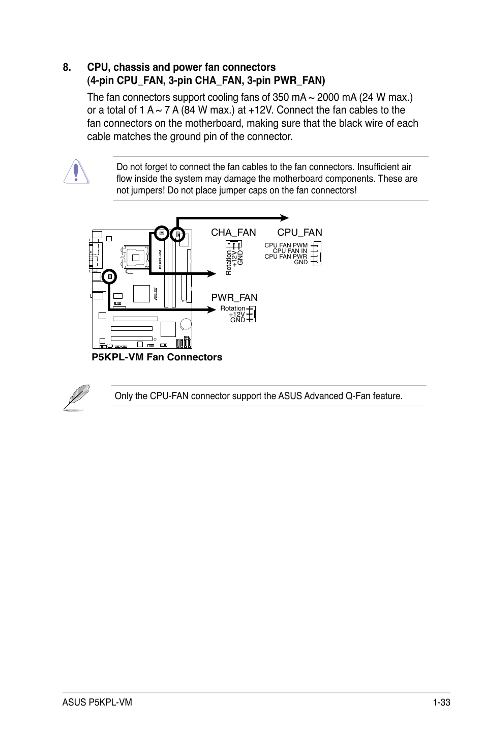 Asus P5kpl Vm User Manual Page 45 94 Also For 1394 Si 4 Pin Computer Fan Wire Diagram