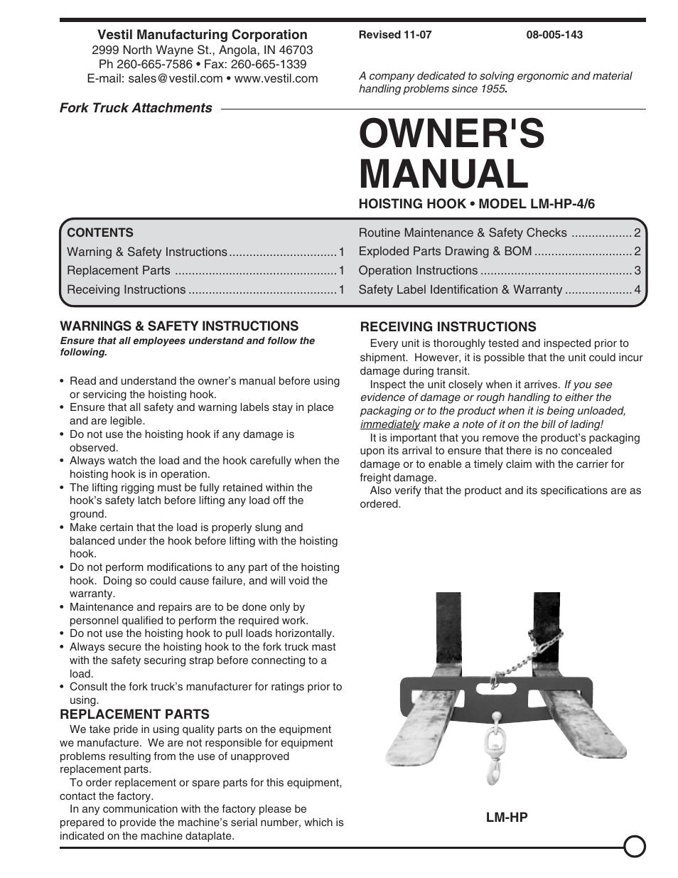 vestil lm hp 4 6 user manual 4 pages original mode rh manualsdir com hp owner manuals online hp owner's manuals