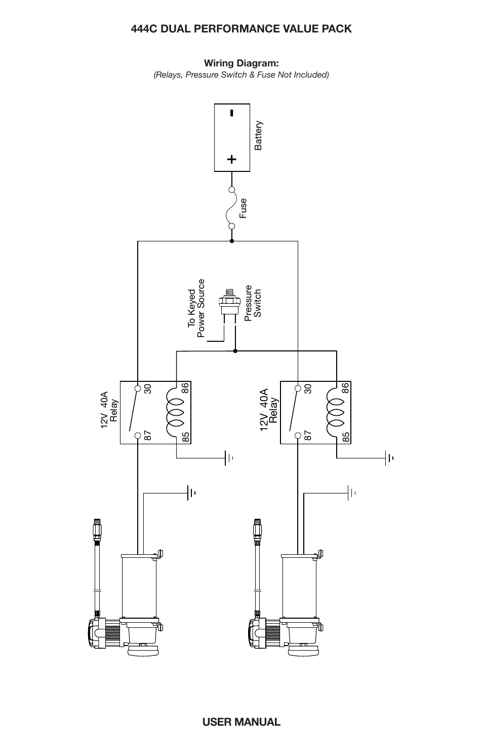 viair 444c dual page7 dual \u201cc\u201d model compressor wiring diagram viair 444c dual user viair pressure switch wiring diagram at aneh.co