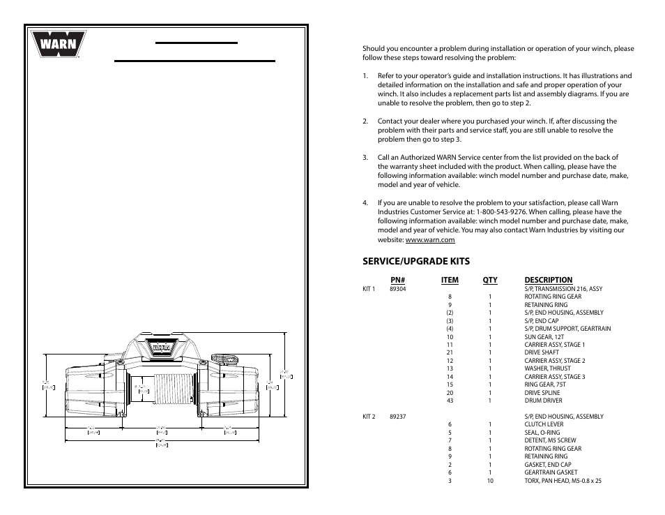 WARN ZEON 10-S Multi-Mount User Manual   6 pages