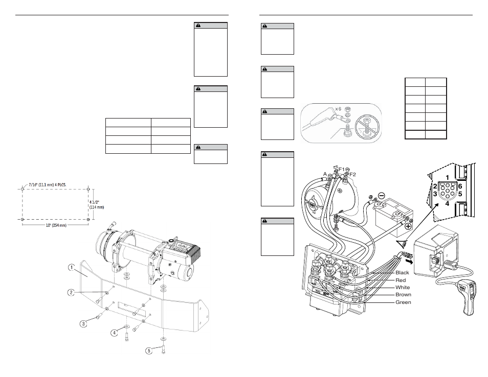 WARN M15000 User Manual   Page 6 / 20   Also for: M12000 on