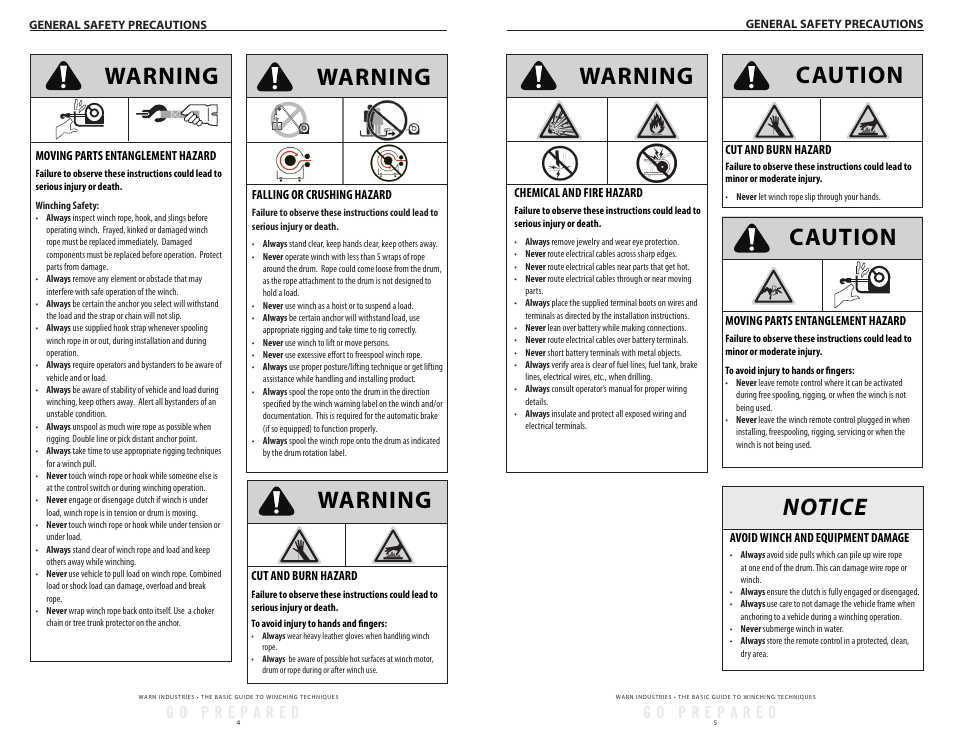 warn 12k winch wiring diagram warning  notice caution  caution warn tabor 12k user manual  warn tabor 12k user manual