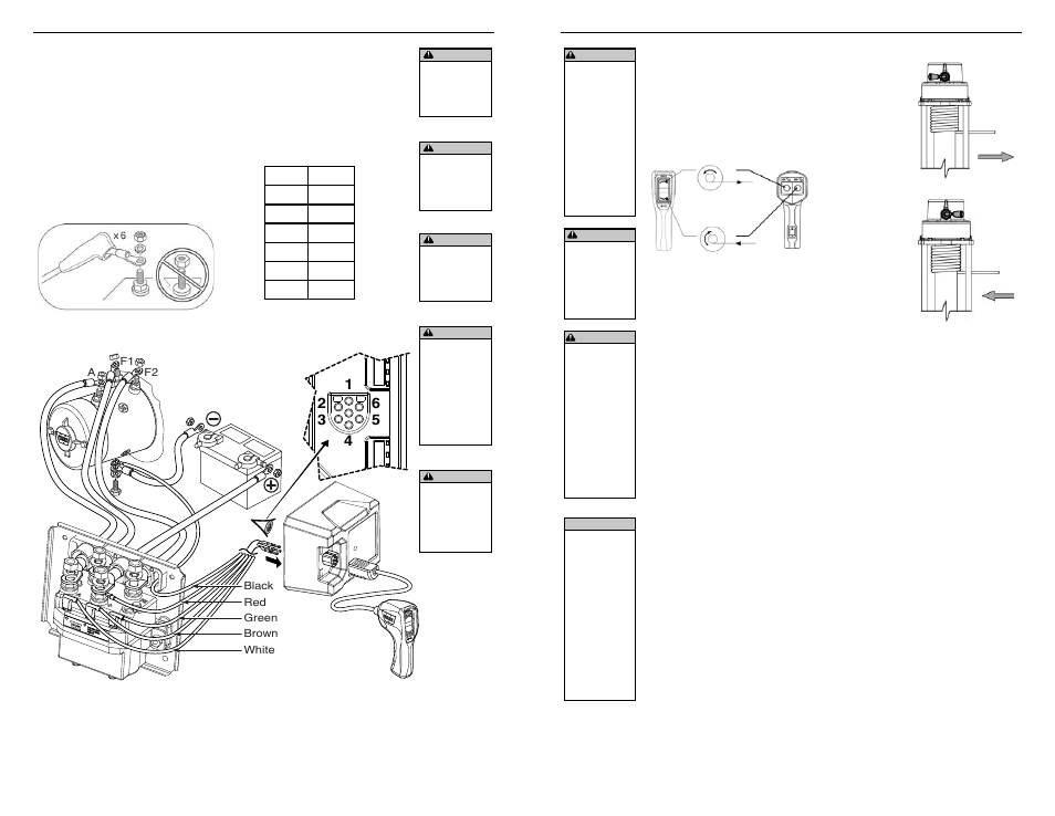 electrical connections  operating instructions