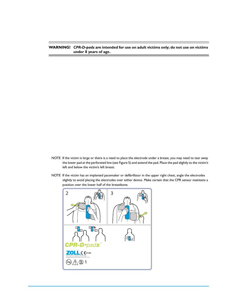 Applying cpr-d- pad z | ZOLL AED Plus Rev V User Manual