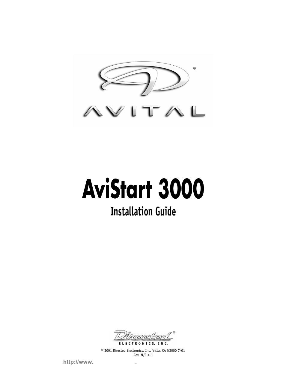 avital avistart 3000 user manual