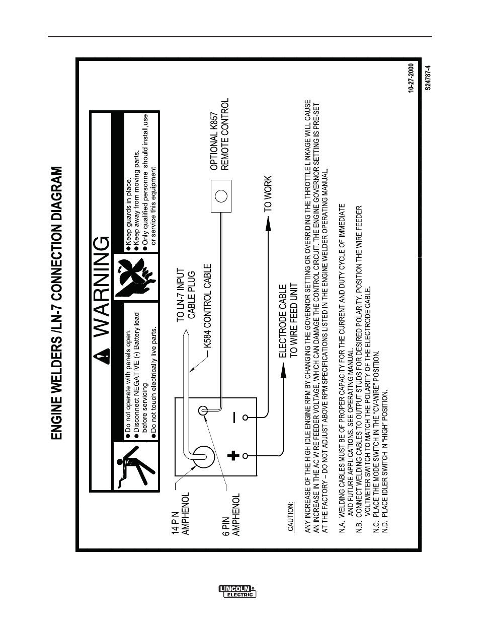 Lincoln Ranger 305d Wiring Diagram Library Electric Wire Diagrams Im10158 305 G Efi User Manual Page 38 64