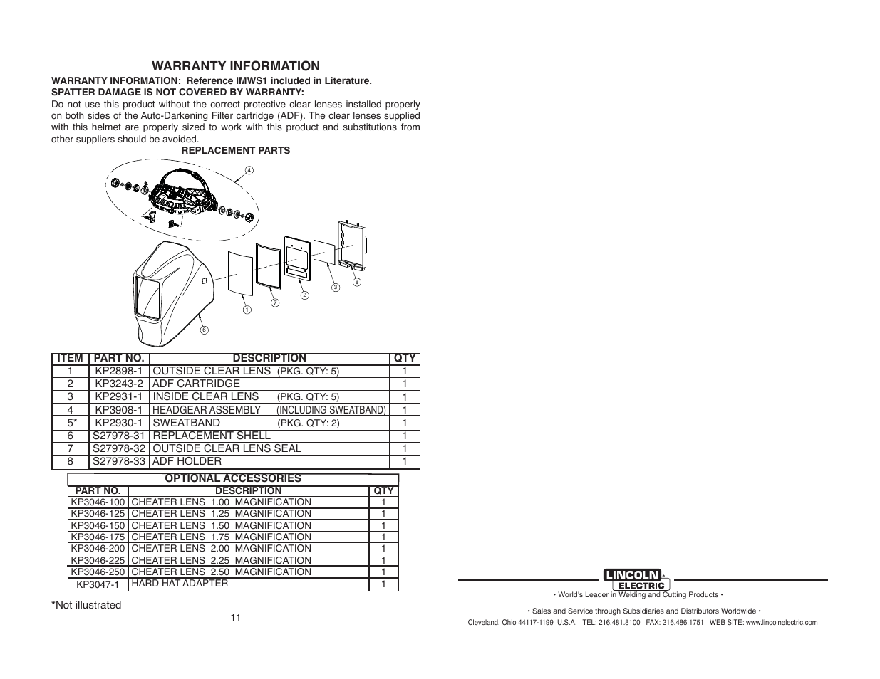 Welding Helmet Diagram Lincoln 2450