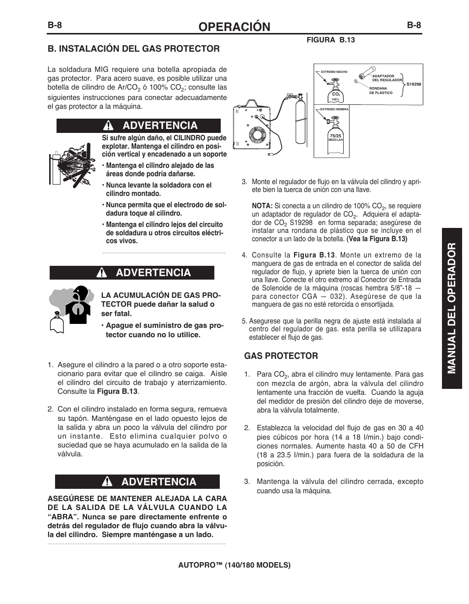 Operacion Advertencia Manual Del Operador Lincoln Electric Imt10143 Marquette Autopro 140 180 User Manual Page 49 100