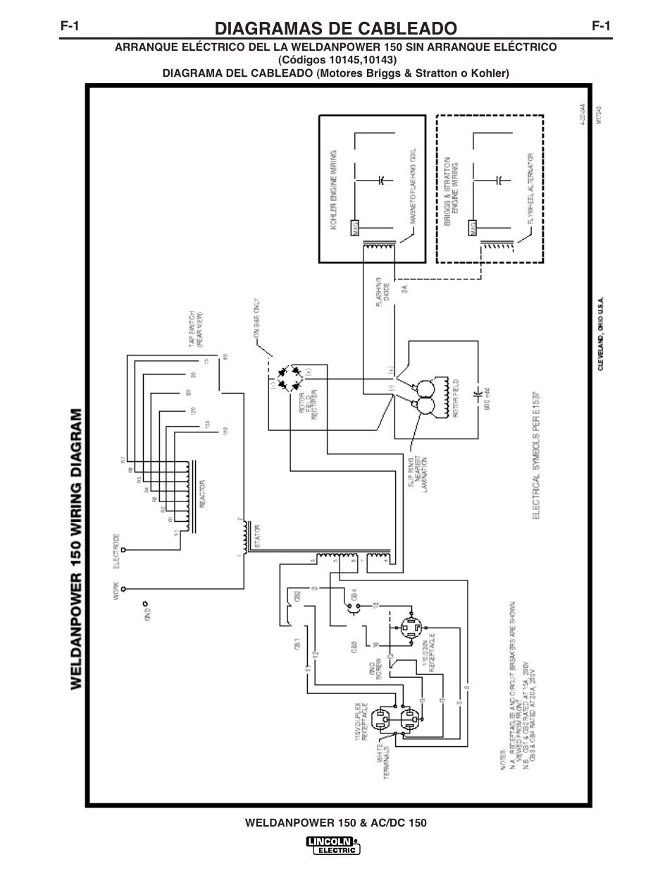 lincoln electric im413 weldanpower 150 page17 diagramas de cableado lincoln electric im413 weldanpower 150 lincoln weldanpower 150 wiring diagram at gsmx.co