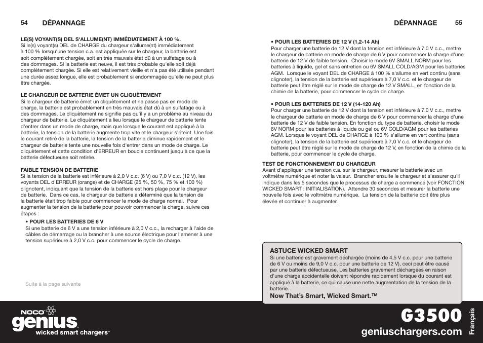 G3500 Noco Genius G3500 User Manual Page 29 47