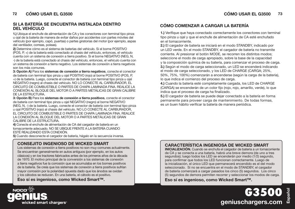 G3500 Noco Genius G3500 User Manual Page 38 47