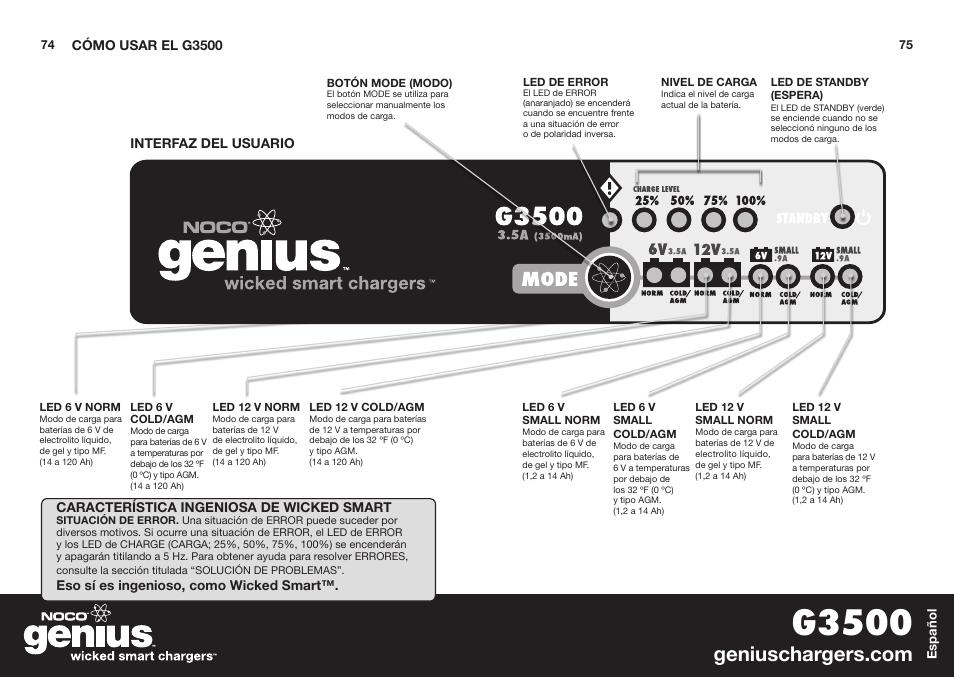 G3500 Noco Genius G3500 User Manual Page 39 47