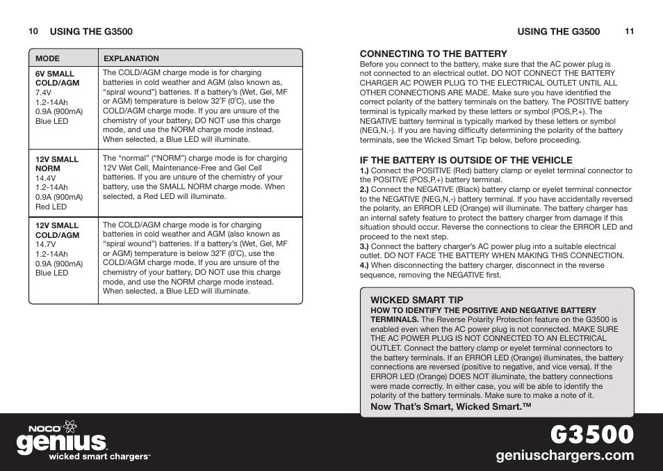 G3500 Noco Genius G3500 User Manual Page 7 47