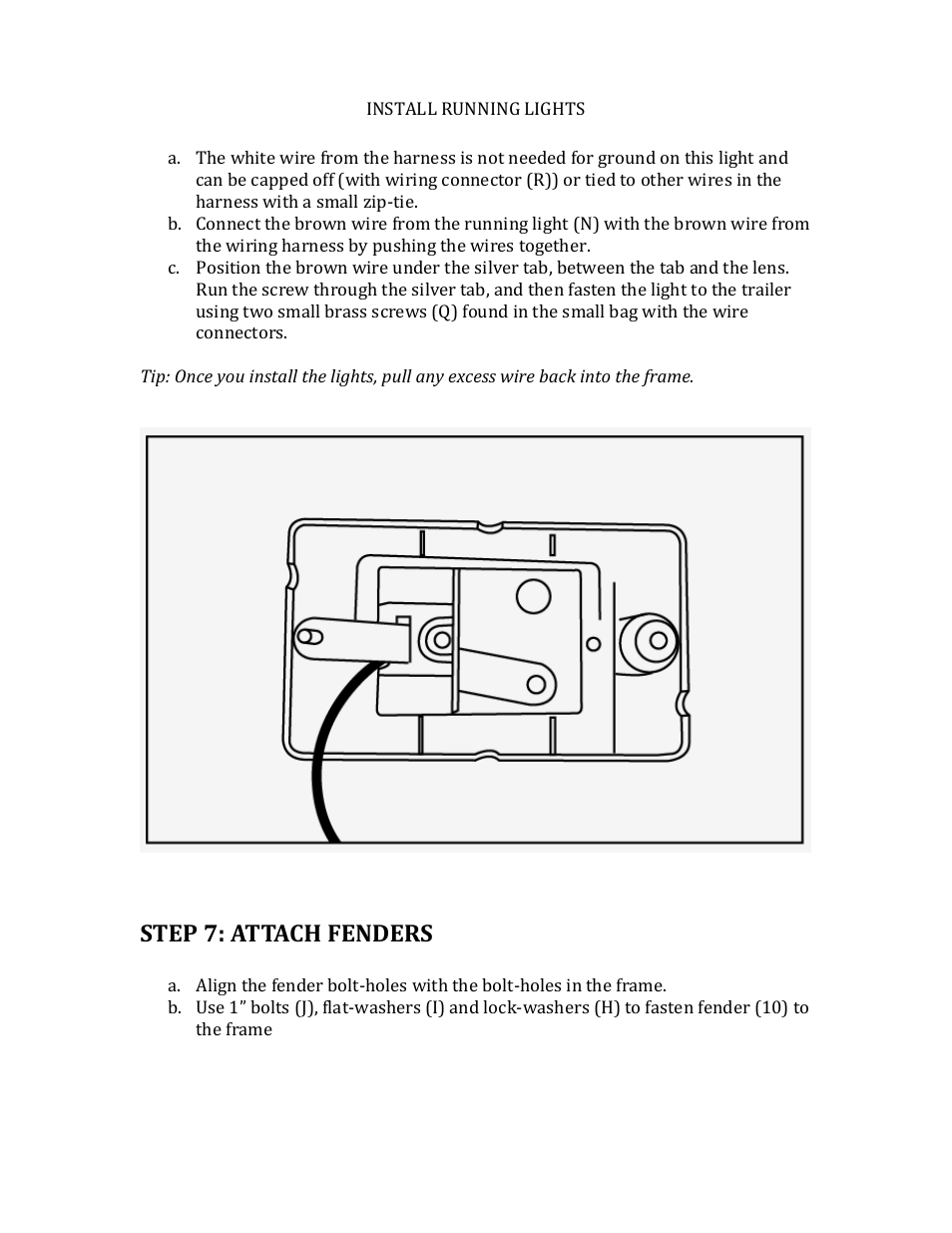 Step 7: attach fenders | Northstar Trailers SPORTSTAR I User Manual ...
