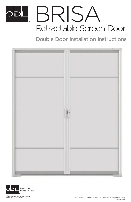 100 french door screens odl brisa retractable screen doors for Retractable screen door for double doors