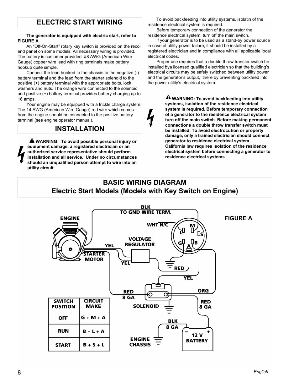 Powermate Pm0612023 User Manual Page 8 42 Also For Pm0610023 Wiring Diagrams Pc0612023 Industrial Series Pc0610023