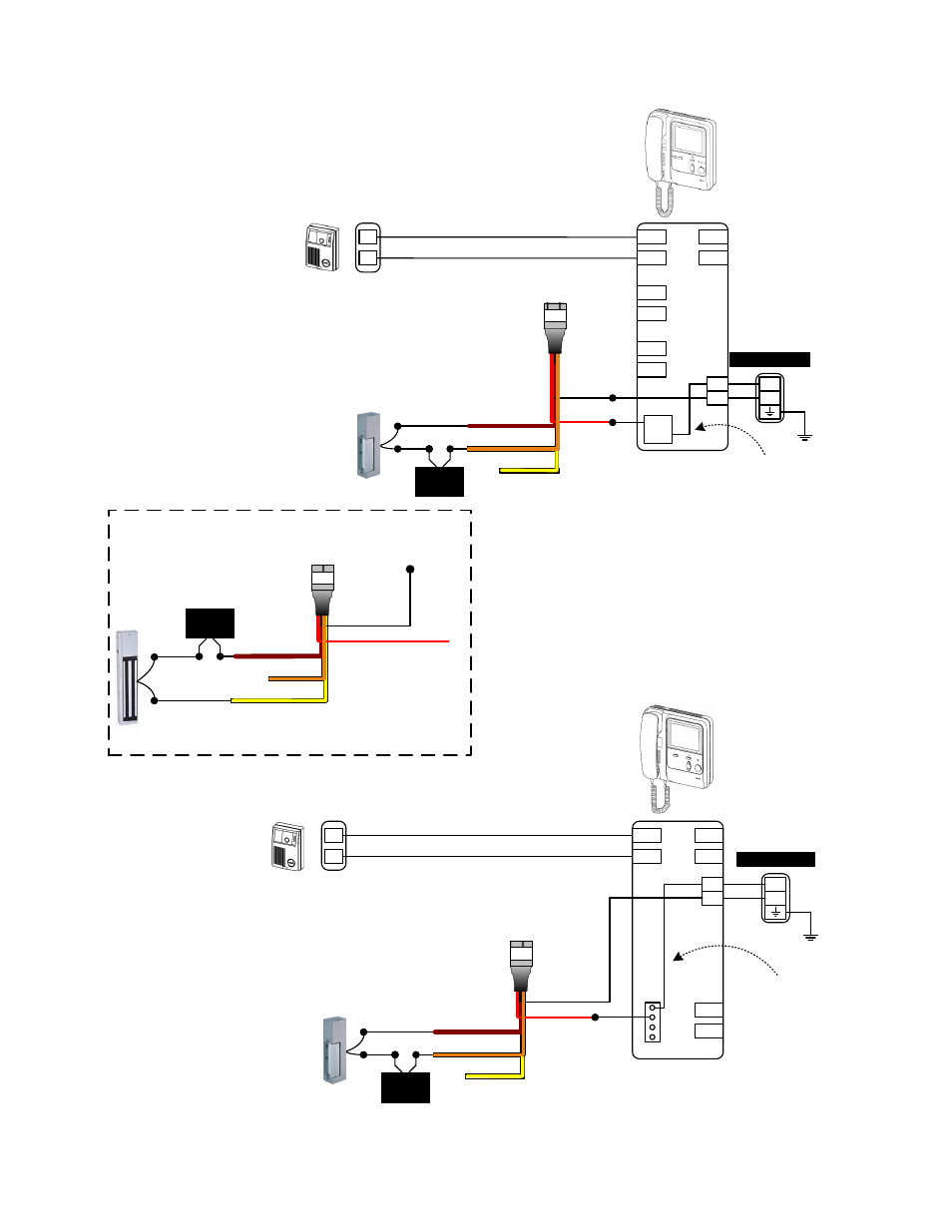 Wiring Diagrams  Cont   Kb  U0026 Kc System Wiring  Electric Strike Wiring Method  Com N  C Magnetic
