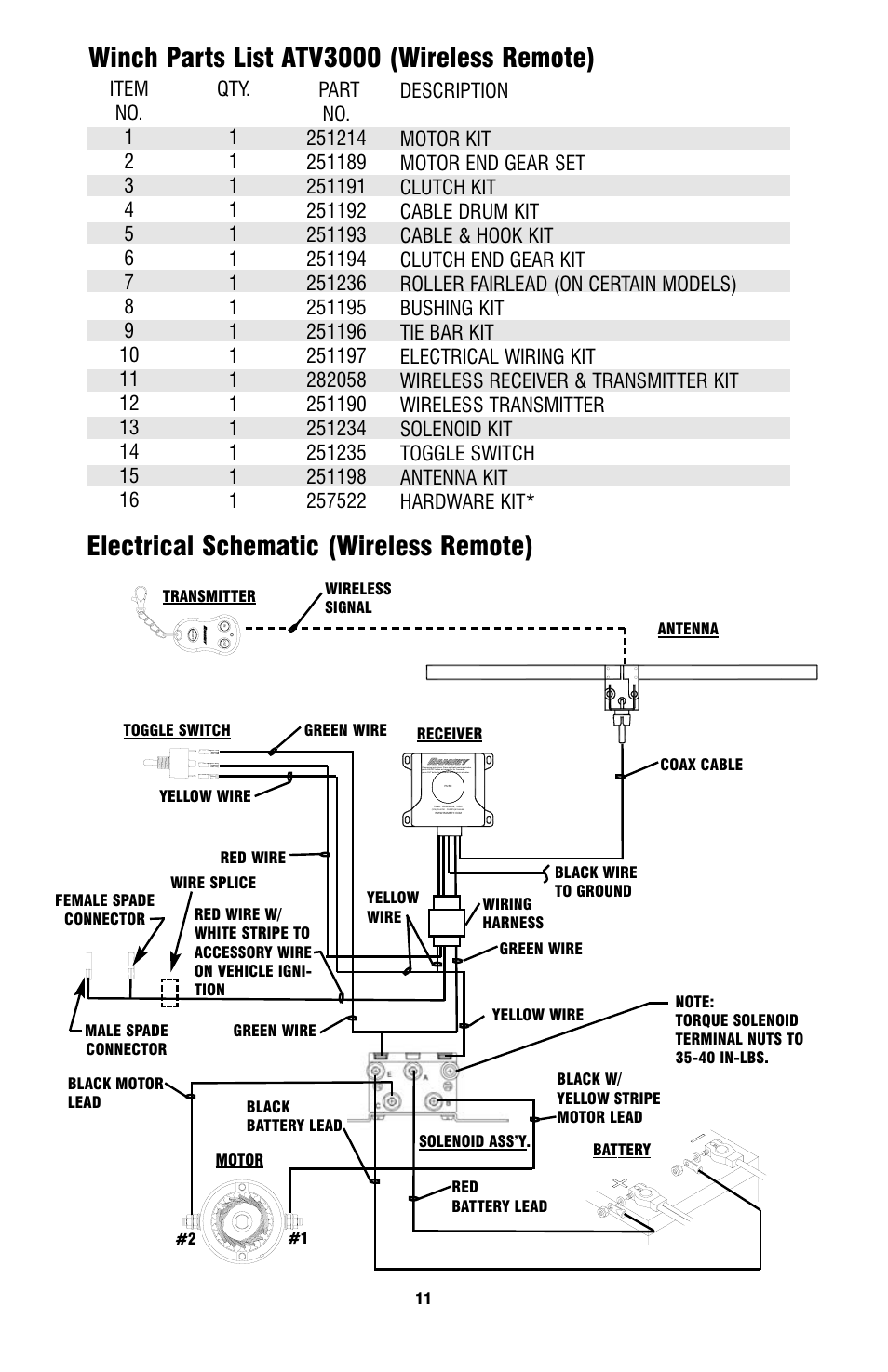 ramsey winch atv 3000 page11 ramsey winch atv 3000 user manual page 11 16 ramsey winch motor wiring diagram at n-0.co