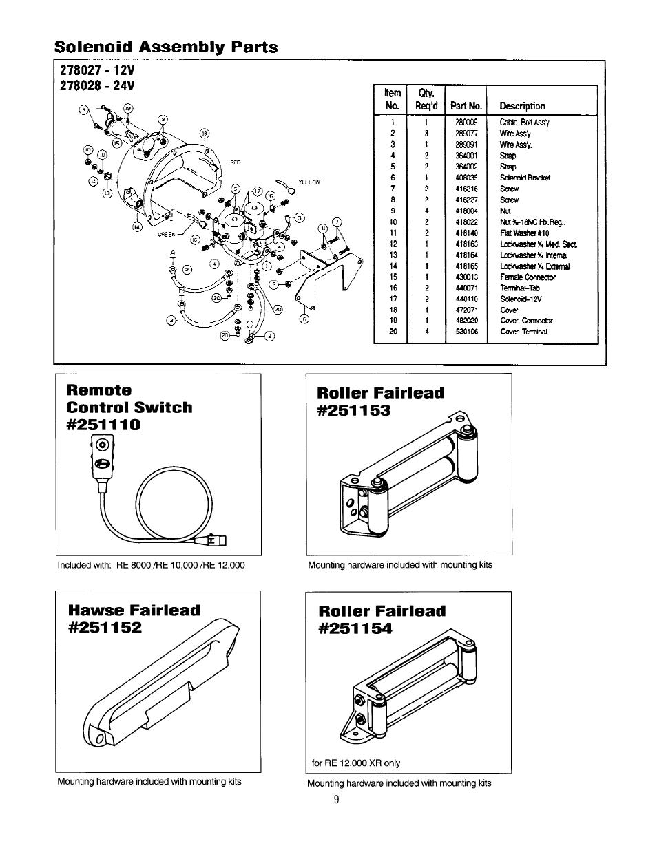 ramsey winch re 10000  12000  12000x user manual