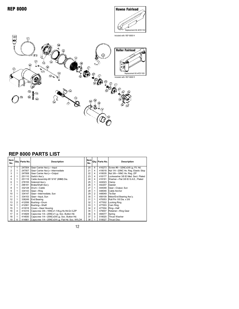 ramsey winch parts diagram wiring