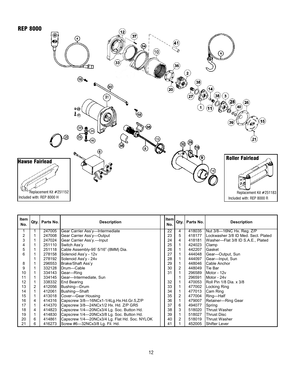 Ramsey Rep8000 Winch Wiring Diagram on Wall Socket Wiring Diagram