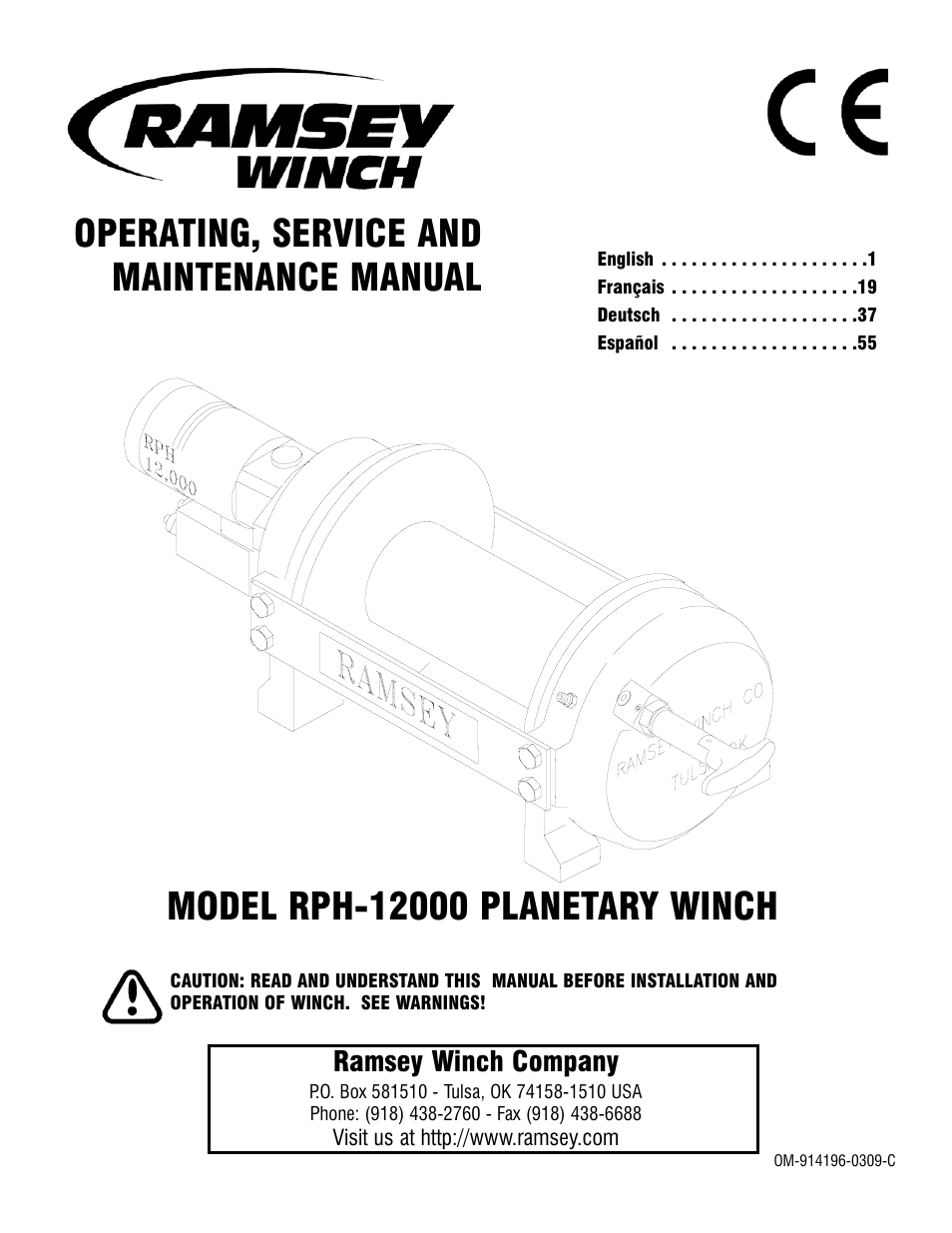 Ramsey Winch Rph 12000 User Manual 72 Pages Wiring Diagram