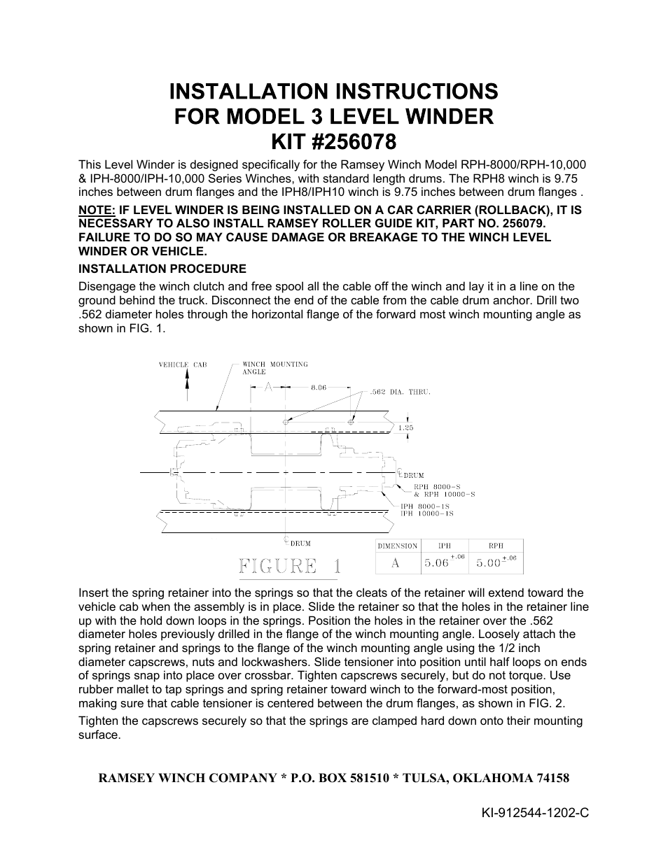 Ramsey Winch Model Iph 8000 Installation Guide Microservice Wiring Schematic Diagram Your Source For Tuff Stuff Winches And Lighting Accessories Atv Jeep Much More Warn Instructions