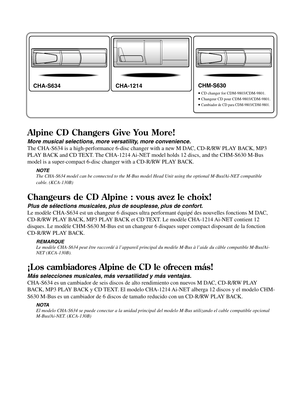 alpine cd changers give you more changeurs de cd alpine vous avez rh manualsdir com Alpine TDA 7537 16 Pin Wiring Harness Alpine CDM 9821