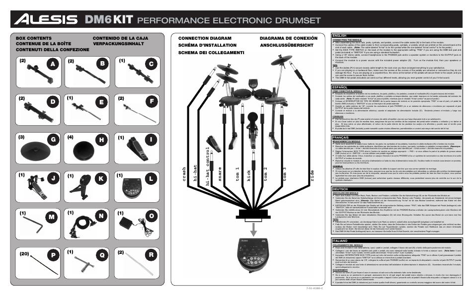 Performance Electronic Drumset  Jk L P Q