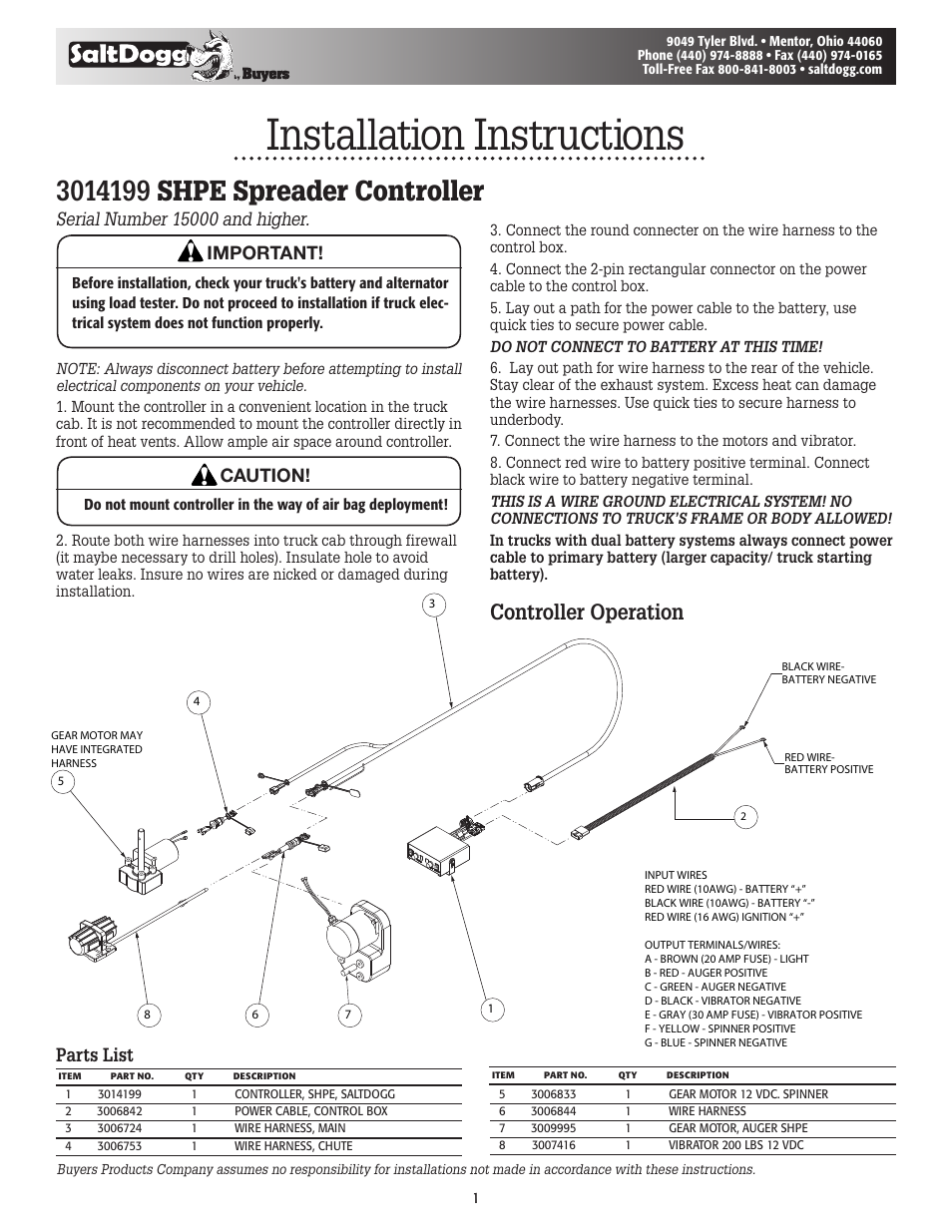 saltdogg shpe controller (3014199) shpe0750, shpe1500, shpe2000 Fisher Wiring Diagram saltdogg shpe controller (3014199) shpe0750, shpe1500, shpe2000, shpe4000 user manual 2 pages