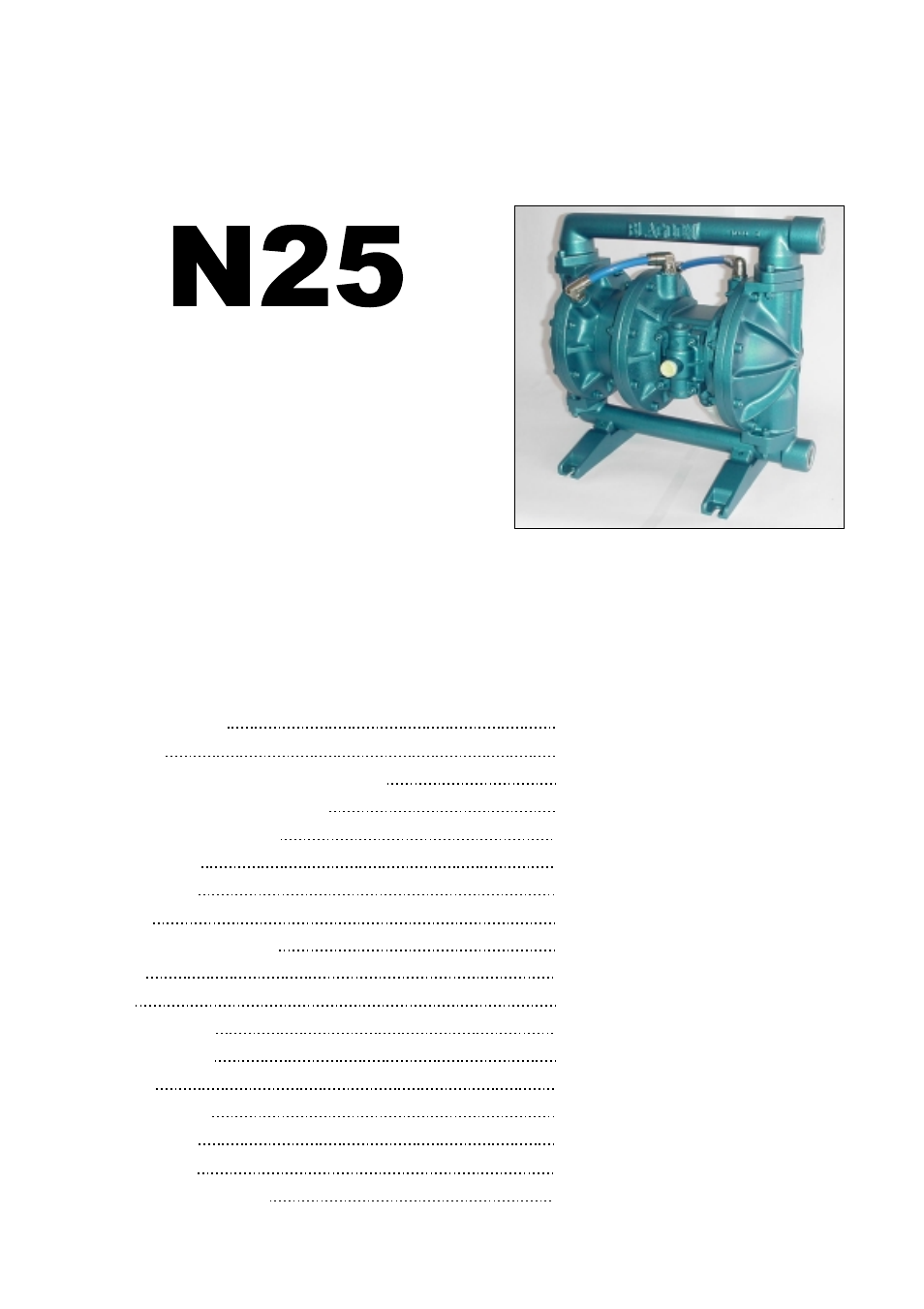 Versa matic n25 air operated air operated double diaphragm pump user versa matic n25 air operated air operated double diaphragm pump user manual 12 pages ccuart Choice Image
