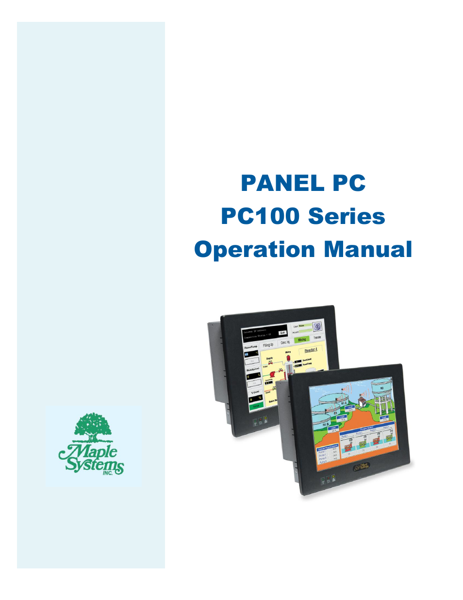Maple Systems Pc110cf User Manual 22 Pages Also For border=